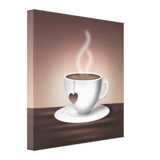 Konst för kaffeLatte vägg Canvastryck