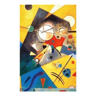 Konst för Kandinsky tyst harmoniabstrakt Brevpapper