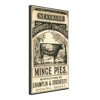 Konst för kanfas för kök för vintagefärspajer canvastryck