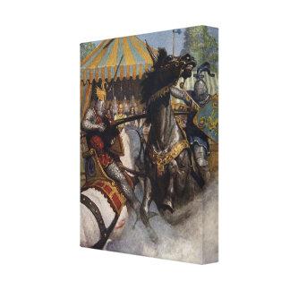 Konst för kanfas för serie 6 för kung Arthur Canvastryck