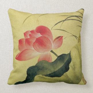 Konst för kines för lotusblommablommamedkänsla kudde