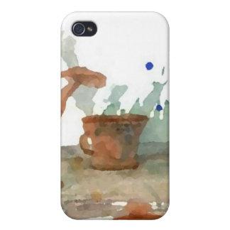 Konst för lergodsCricketDiane kaffe iPhone 4 Cover