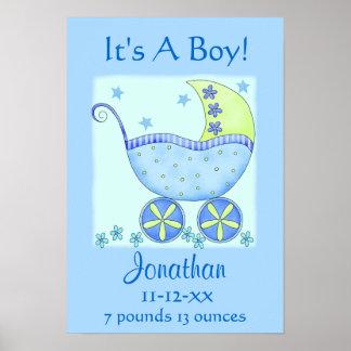 Konst för meddelande för födelse för namn för baby poster