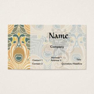 konst för mönster för art décoart nouveaupåfågel visitkort