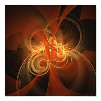 Konst för morgonmagiabstrakt fyrkantigt 13,3 cm inbjudningskort