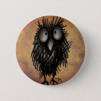 Konst för nattuggla för ugglaälskare standard knapp rund 5.7 cm