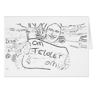 Konst för Om Telolet Om på papper Hälsningskort