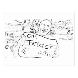 Konst för Om Telolet Om på papper Vykort