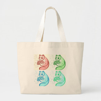 Konst för Pandabjörnpop Jumbo Tygkasse