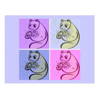 Konst för Pandabjörnpop Vykort