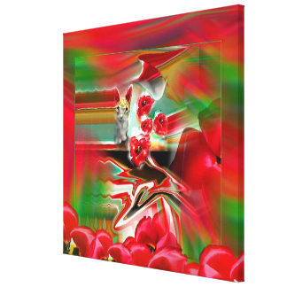 Konst för påsk för vårnypremiärabstrakt canvastryck
