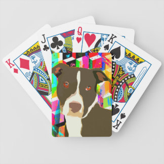 Konst för Pitbull porträttpop Spelkort