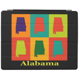 Konst för pop för Alabama kartaSilhouette iPad Skydd