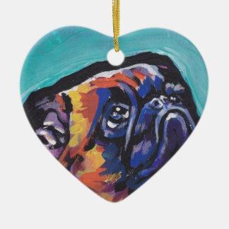 Konst för pop för Bryssel Griffon hund rolig ljus Julgransprydnad Keramik