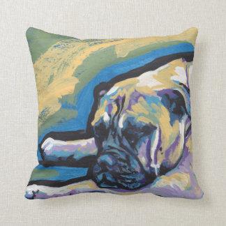 Konst för pop för Bullmastiff hund rolig ljus Kudde