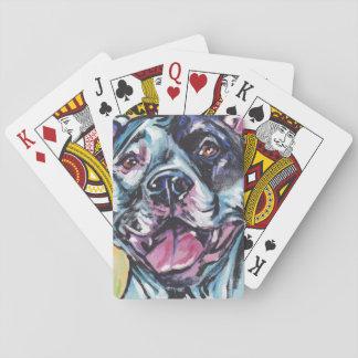 konst för pop för groptjurpitbull rolig spelkort
