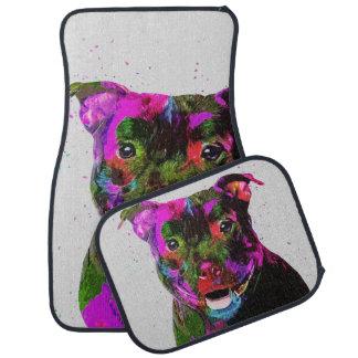 Konst för pop för Staffordshire Terrier färgrik Bilmatta