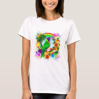 Konst för regnbågeLorikeet papegoja Tee Shirt
