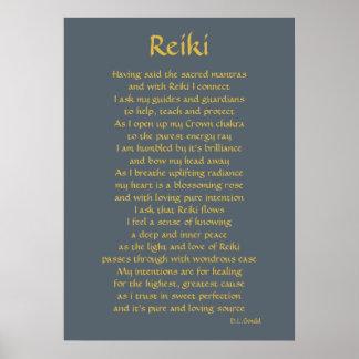 """Konst """"för Reiki anslutnings"""" dikt Poster"""
