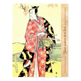 Konst för Samurai för klassikerukiyo-e traditionel Vykort