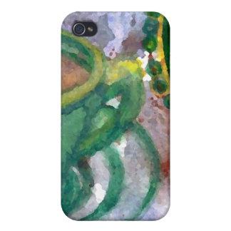 Konst för smaragdkaffeCricketDiane kaffe iPhone 4 Cover