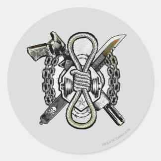 Konst för tatuering för vapen för självmordSquad | Runt Klistermärke