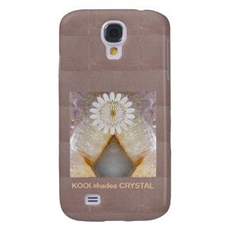 Konst för tempel för KOOLshades Crystal marmorvint Galaxy S4 Fodral