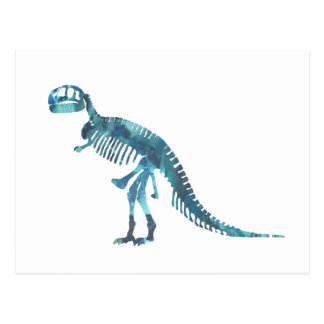 Konst för Tyrannosaurusrexskelett Vykort