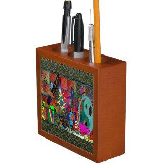 konst för U-plocka färggrafitti på tegelstenväggen