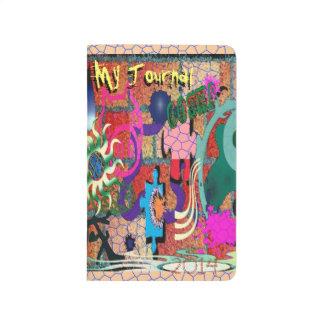 konst för U-plocka färggrafitti på tegelstenväggen Anteckningsböcker