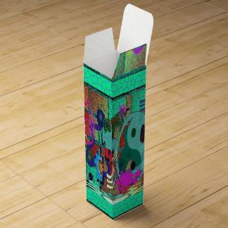 konst för U-plocka färggrafitti på tegelstenväggen Presentask För Vinflaska