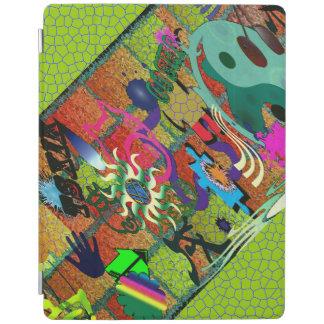 konst för U-plocka färggrafitti på tegelstenväggen iPad Skydd