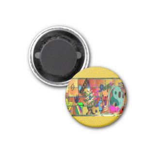 konst för U-plocka färggrafitti på tegelstenväggen Magneter