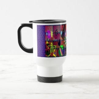 konst för U-plocka färggrafitti på tegelstenväggen Kaffe Kopp