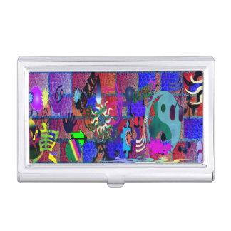 konst för U-plocka färggrafitti på tegelstenväggen Visitkorts Hållare