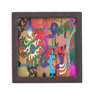 konst för U-plocka färggrafitti på tegelstenväggen Premie Presentförpackningar