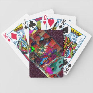 konst för U-plocka färggrafitti på tegelstenväggen Spel Kort