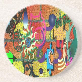 konst för U-plocka färggrafitti på tegelstenväggen Underlägg