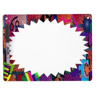 konst för U-plocka färggrafitti på tegelstenväggen Dry Erase White Board