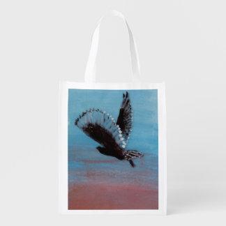 Konst för ugglasoluppgångfågel återanvändbar påse