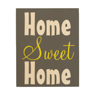 Konst för vägg för hem- sötsakhem Wood Trätavla