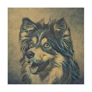 Konst för vägg för målning för Shetland Sheepdog Trätavla