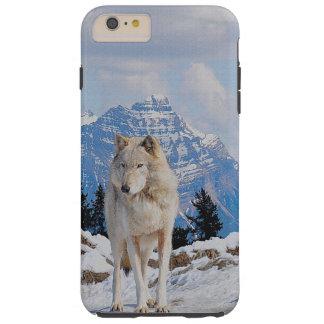 Konst för varg- & bergVarg-Älskare djurliv Tough iPhone 6 Plus Fodral