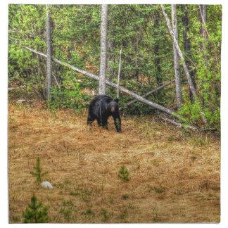 Konst för vildsvartbjörn & för Yukon skogfoto Tygservett