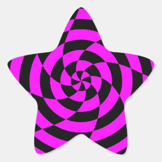 Konst för vintage för Corey tiger80-tal Op Stjärnformat Klistermärke