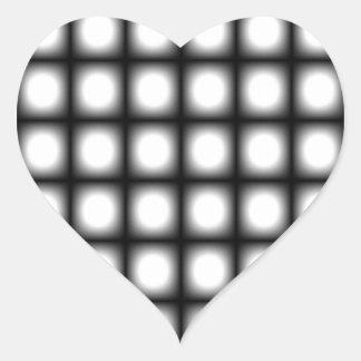 Konst för vintage för Corey tiger80-tal Op Hjärtformat Klistermärke