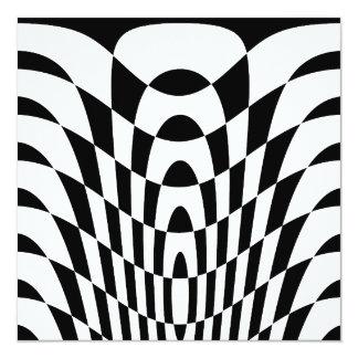 Konst för vintage för Corey tiger80-tal Op Fyrkantigt 13,3 Cm Inbjudningskort