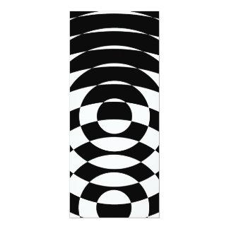 Konst för vintage för Corey tiger80-tal Op 10,2 X 23,5 Cm Inbjudningskort