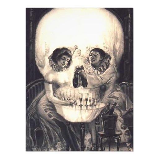 Konst för vintage för illusion för skallekärlekVic Fototryck