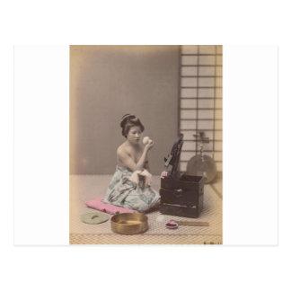 Konst för vintage för japansk damGeisha asiatisk Vykort